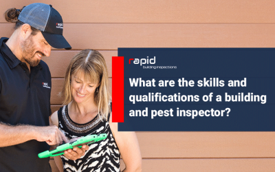 What are the skills and qualifications of a building and pest inspector?